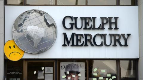 the store front of the Guelph Mercury newspaper