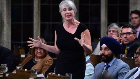 MP Patty Hajdu during Question Period in Ottawa