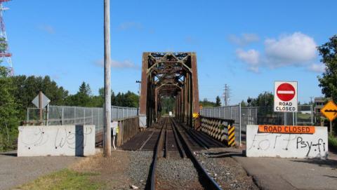 James Street swing bridge in Thunder Bay