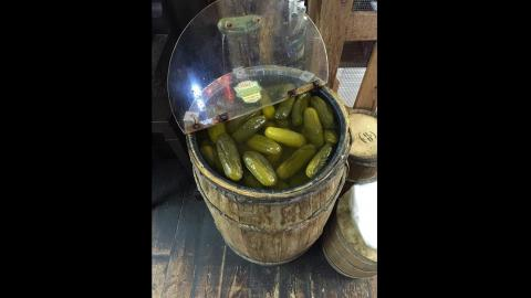 a barrel of pickles