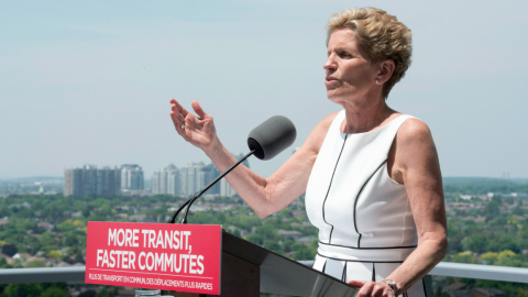 Liberal leader Kathleen Wynne