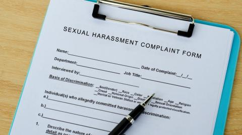a sexual harassment in the workplace form