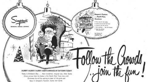 a black and white Simpson's Christmas ad