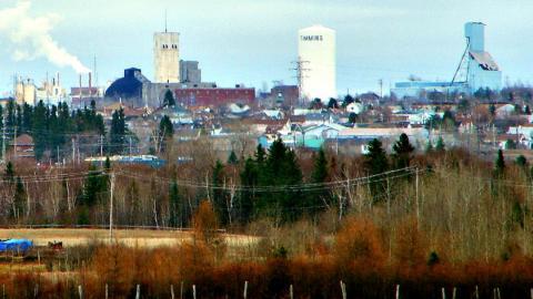 Panoramic view of Timmins, Ontario.