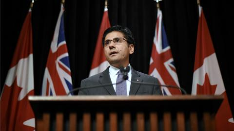 Yasir Naqvi, Minister of Community Safety and Correctional Services.
