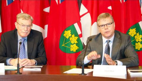 David Wake and David  West at Queen's Park