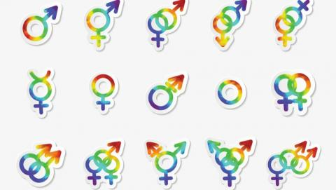 symbols indicating gender identity