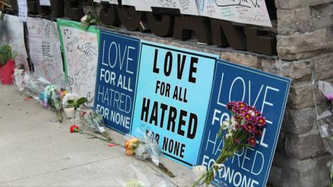 messages of support after the Toronto van attack on April 23