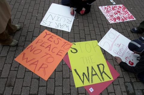 anti-war signs