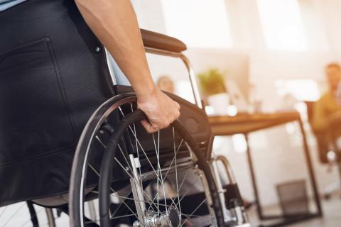 person using a wheelchair