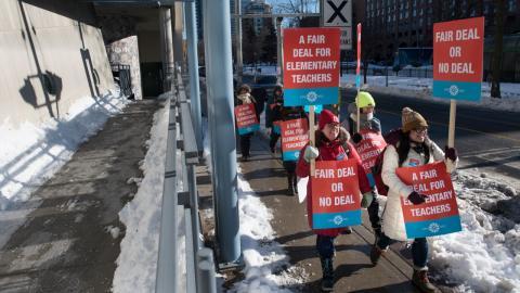 education workers on strike