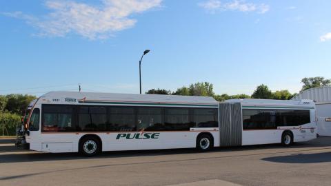 an articulated bus