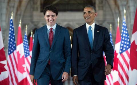 Justin Trudeau and Barack Obama