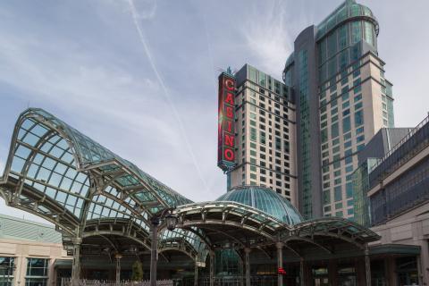 exterior of a casino