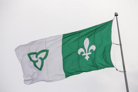 Official Franco-Ontarian flag.