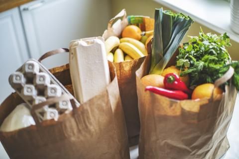 bags filled with groceries