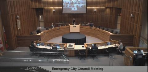 City-council chamber in Guelph