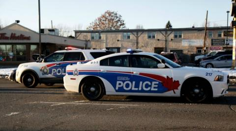 Two police cars in Sudbury