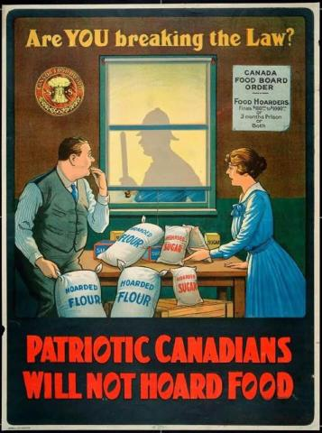 Canada Food Board poster from 1918.