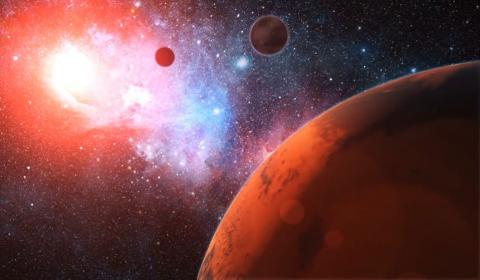Artist's concept of planets outside the Solar System.