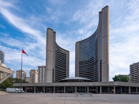 exterior of Toronto city hall