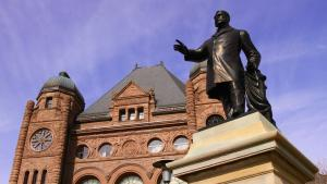 Statue of James Whitney outside of Queen's Park  from the article What's ON: The week ahead in Ontario politics (October 12-15)