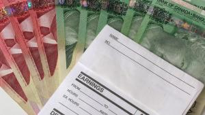 earnings form with Canadian money from the article  'An ongoing emergency': Why public-health officials are calling for basic income