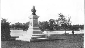 bust of Kaiser Wilhelm I  from the article How the Kaiser ended up 'helmet first' in an Ontario lake