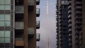 CN tower viewed from Liberty Village condos from the article Density is a planning problem. Crowding is a money problem