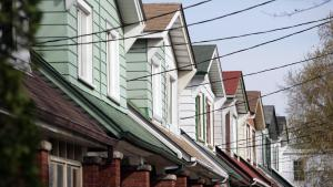 a row of houses from the article People who oppose rooming houses in Toronto are just plain wrong