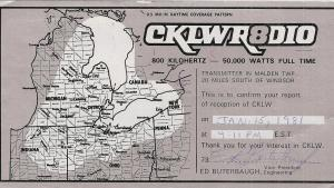 radio broadcast map from the article 'Everything about it rocked': How Windsor's CKLW reckoned with the brand-new CanCon rules