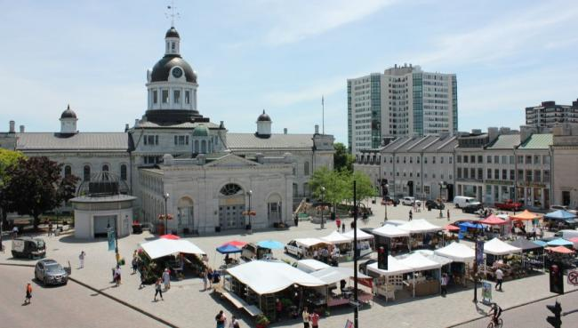 a view of Kingston, Ontario's downtown area
