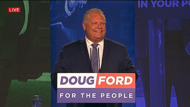 Doug Ford at podium
