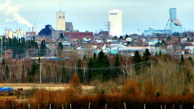 Panoramic view of Timmins, Ontario.