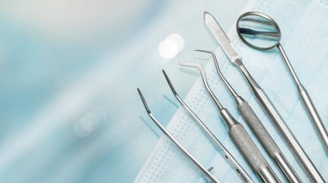 a set of dental instruments