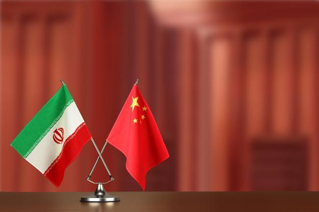 Iran and China flags