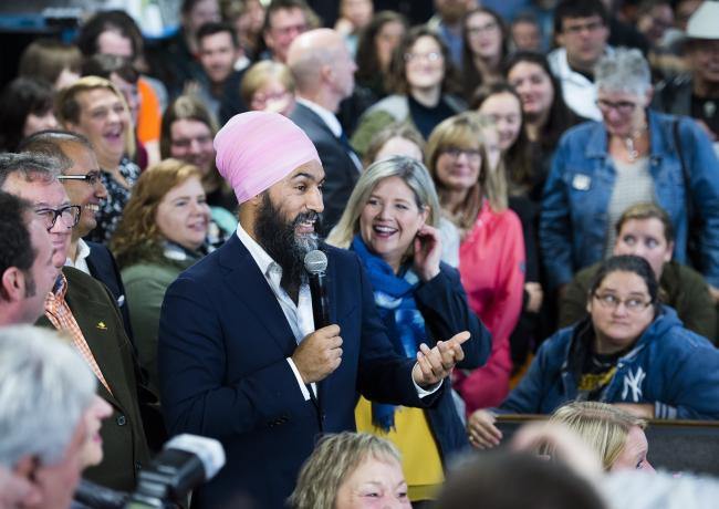 Jagmeet Singh and Andrea Horwath