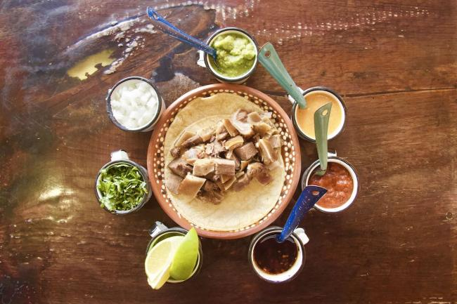 A selection of dishes from Comal y Canela