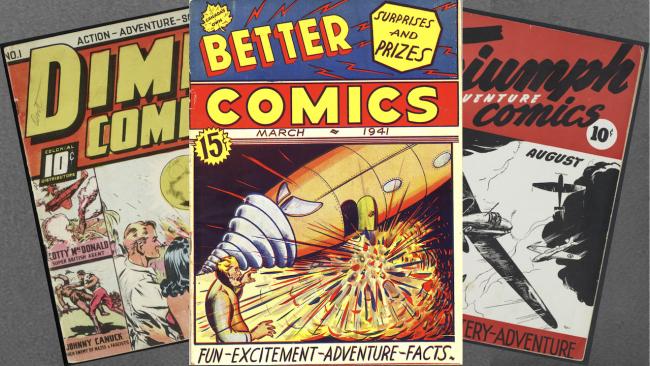 three comic books