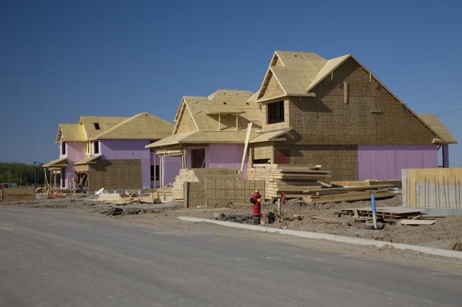 homes under construction
