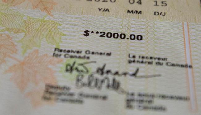 government cheque