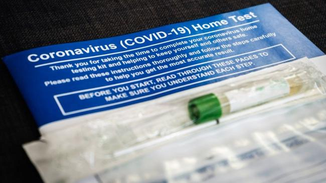 Package with a COVID-19 home test kit