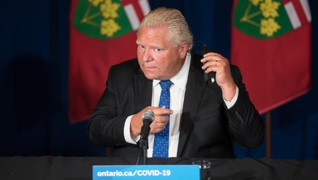 Doug Ford at a press conference