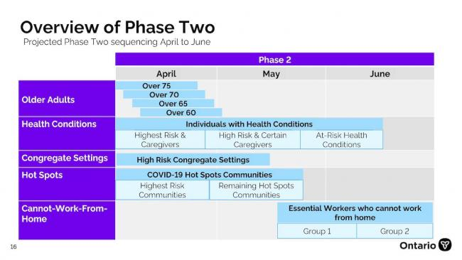 chart showing overview of Phase 2