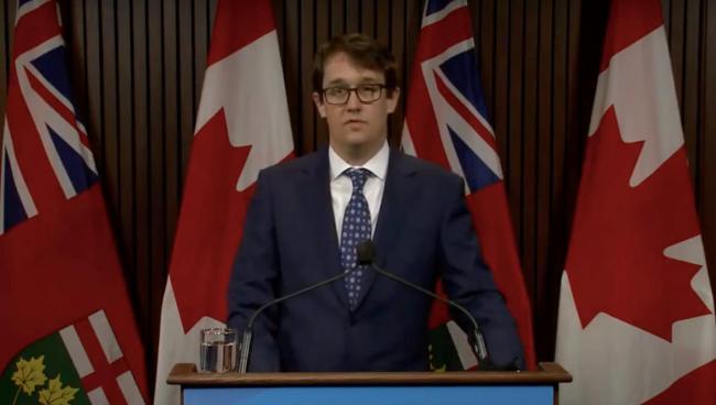 Labour Minister Monte McNaughton