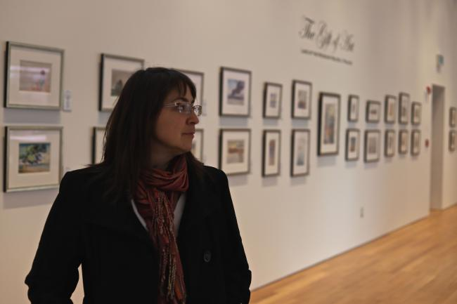 Curator Sophie Lavoie at the Douglas Family Art Centre, in Kenora