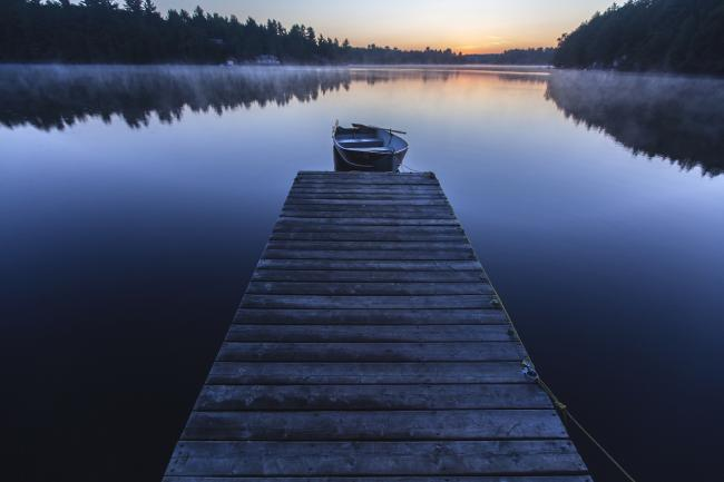 a dock in the Kawartha Lakes