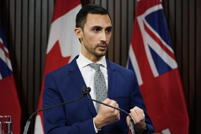 Ontario's education minister, Stephen Lecce
