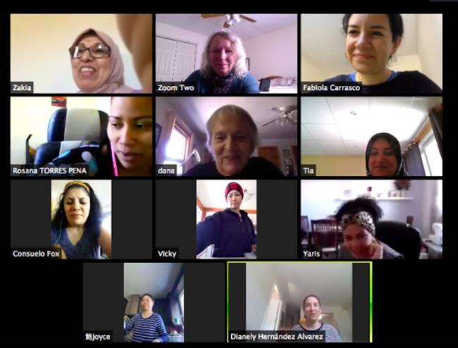 various people on a zoom call