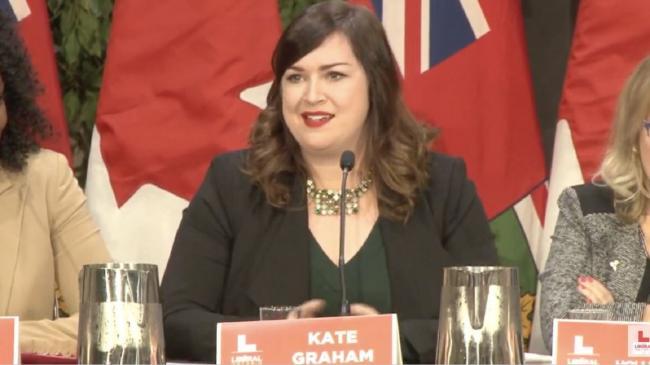 Ontario Liberal leadership candidate Kate Graham